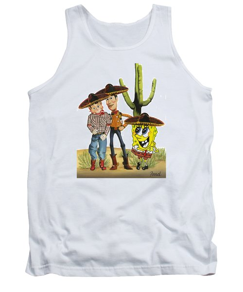 Three Amigos Tank Top by Ferrel Cordle