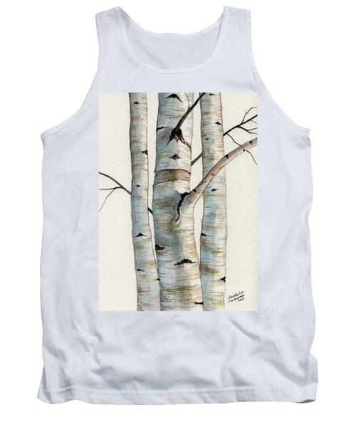 Three Birch Trees Tank Top
