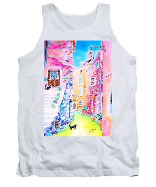Three Cats In The Alley Tank Top