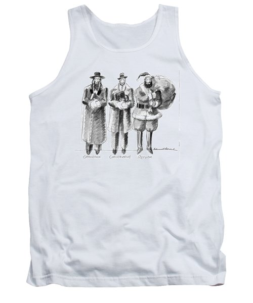 Three Jews Are Standing In A Line Tank Top
