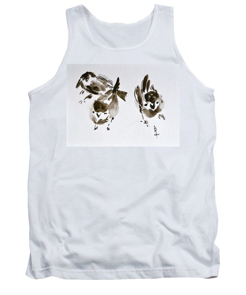 Three Little Birds Perch By My Doorstep Tank Top