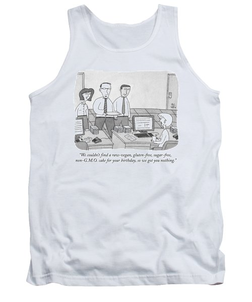 Three Office Workers Tank Top