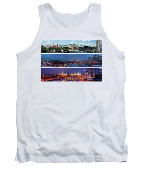 Three Panoramas Of Moscow Kremlin - Featured 3 Tank Top by Alexander Senin