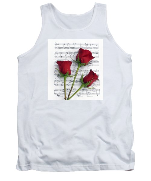 Three Rose Music Tank Top