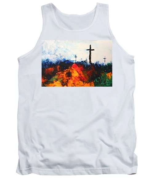 Three Wooden Crosses Tank Top