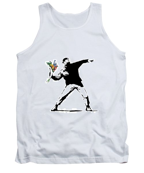 Throwing Love Tank Top by Munir Alawi