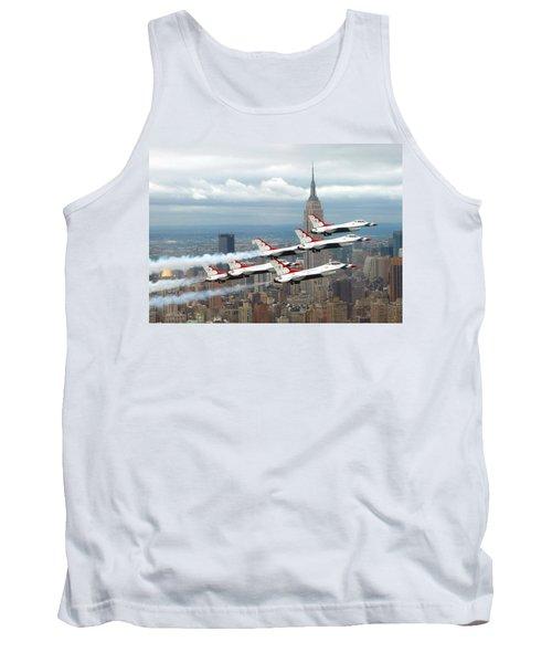 Thunderbirds Over New York City Tank Top by U S A F