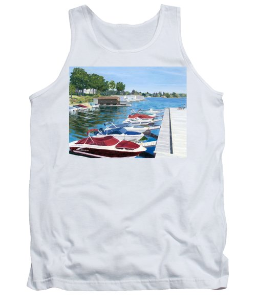 Tank Top featuring the painting T.i. Park Marina by Lynne Reichhart
