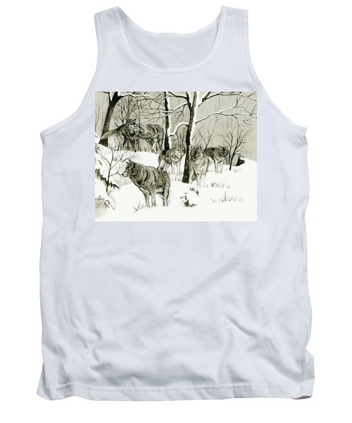 Timber Wolf Pack Tank Top