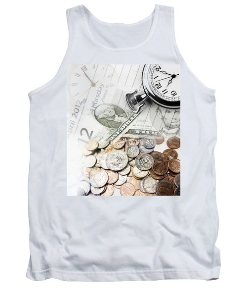 Time Is Money Concept Tank Top