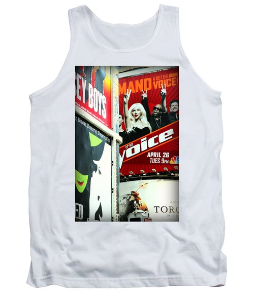 Times Square Billboards Tank Top by Valentino Visentini