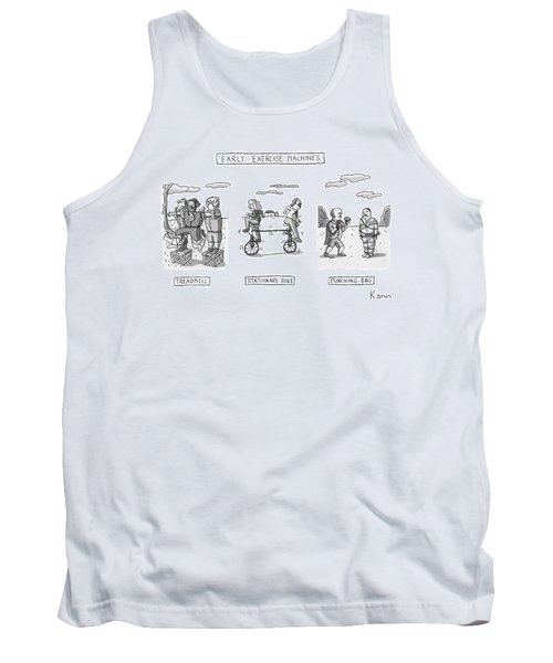 Title: Early Exercise Machines. Three Early Tank Top