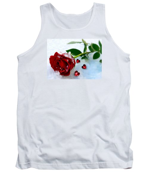 Tank Top featuring the mixed media To Make You Feel My Love by Morag Bates
