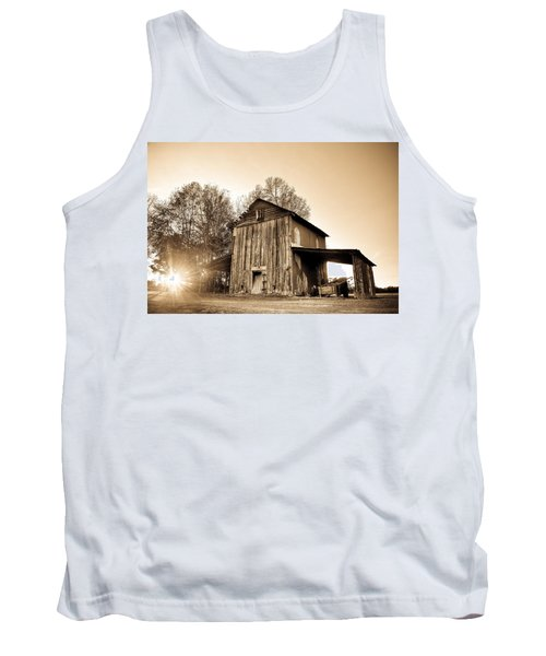 Tobacco Barn In Sunset Tank Top