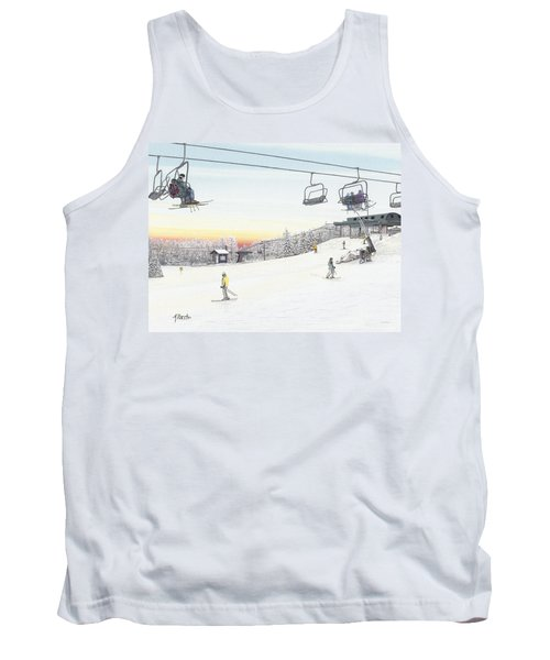 Top Of The Mountain At Seven Springs Tank Top by Albert Puskaric