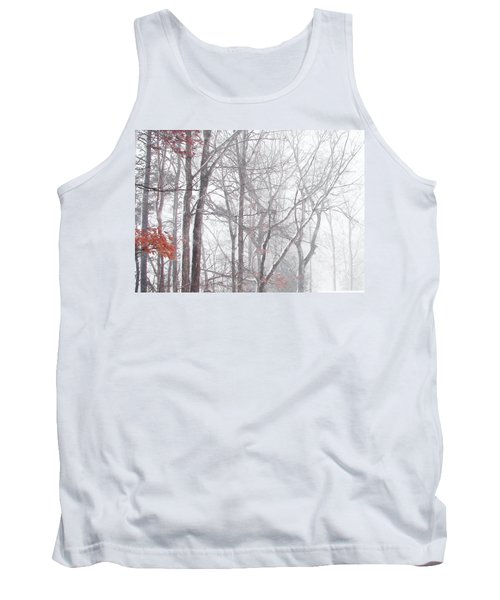 Touch Of Fall In Winter Fog Tank Top