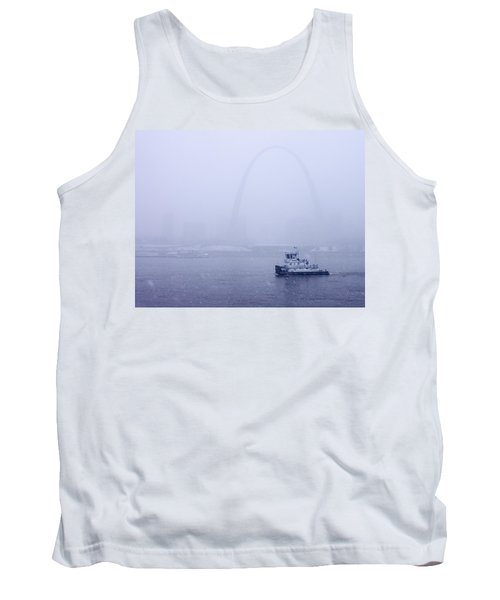 Towboat Working In The Snow St Louis Tank Top by Garry McMichael