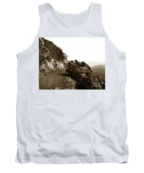 Tank Top featuring the photograph Trail On Mt. Tamalpais Marin Co California Circa 1902  by California Views Mr Pat Hathaway Archives