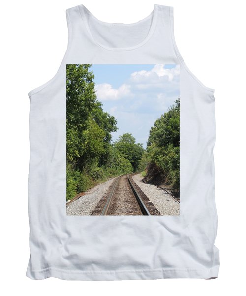Tank Top featuring the photograph Traxs To Anywhere by Aaron Martens