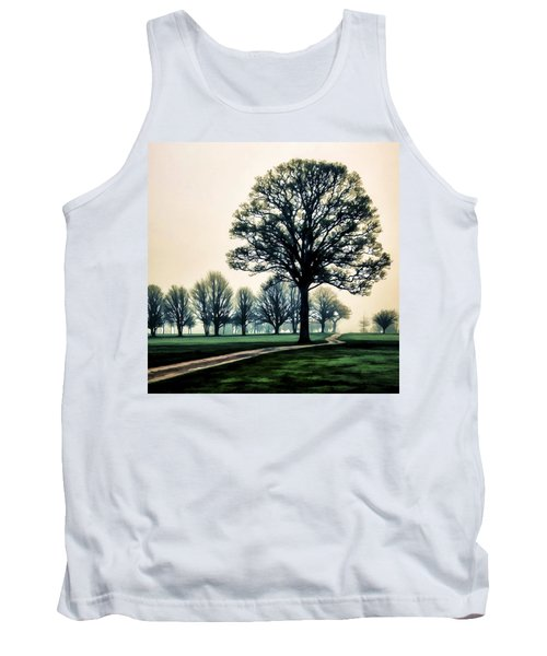 Tree At Dawn On Golf Course Tank Top