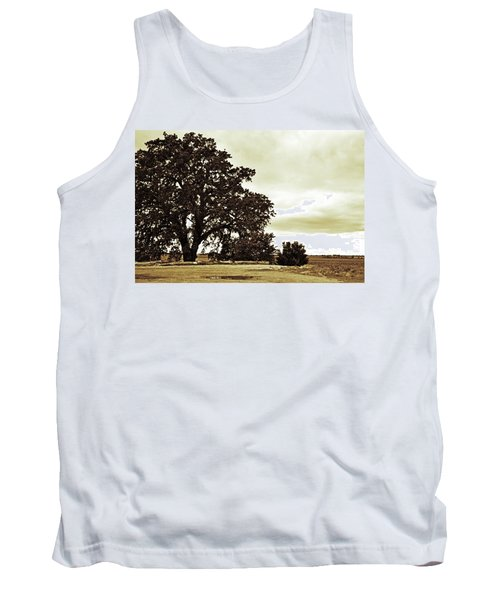 Tree At End Of Runway Tank Top