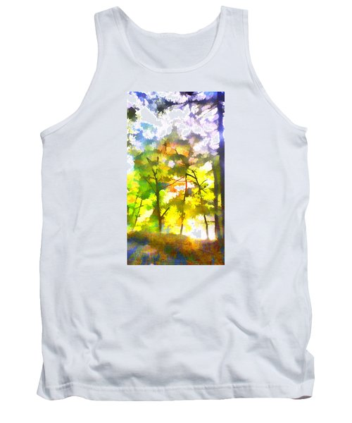 Tank Top featuring the digital art Tree Leaves by Frank Bright