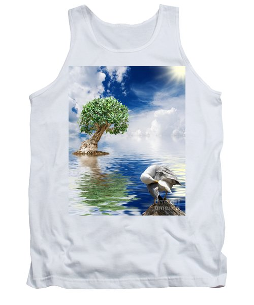Tree Seagull And Sea Tank Top