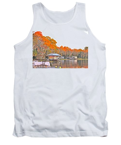 Trees By The Lake Tank Top by Lorna Maza