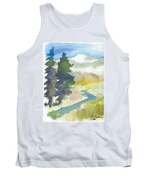 Tank Top featuring the painting Trees by C Sitton