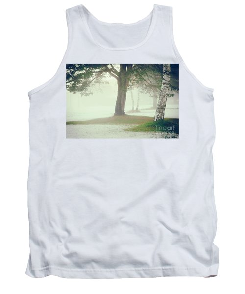 Tank Top featuring the photograph Trees In Fog by Silvia Ganora
