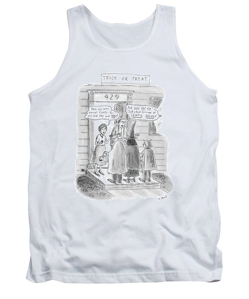Trick Or Treat 'here Are Some Broccoli Florets - Tank Top by Roz Chast