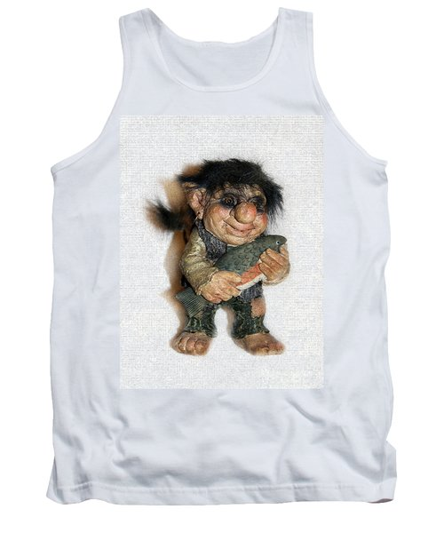 Troll Fisherman Tank Top by Sergey Lukashin
