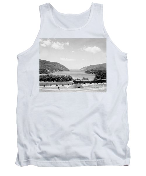 Trophy Point North Fro West Point In Black And White Tank Top