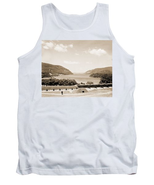 Trophy Point North Fro West Point In Sepia Tone Tank Top
