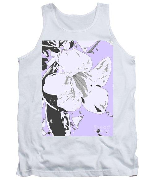 Tropical Floral Violet Black Tank Top