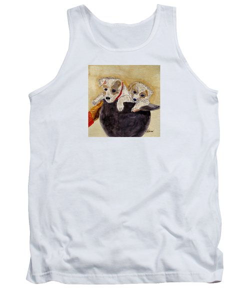 Tank Top featuring the painting Trump And Tillie by Angela Davies