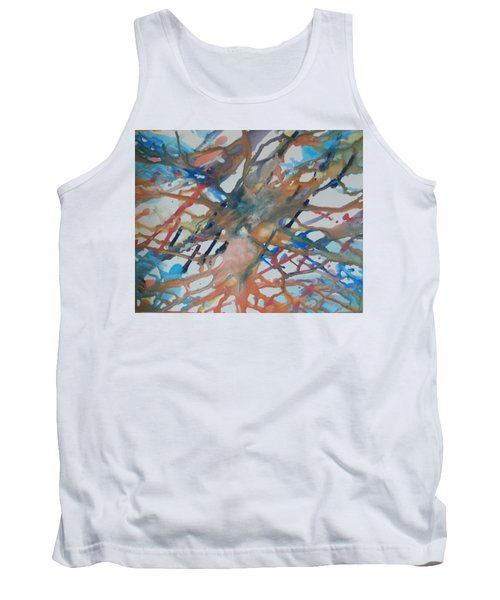 Tank Top featuring the painting Tube by Thomasina Durkay
