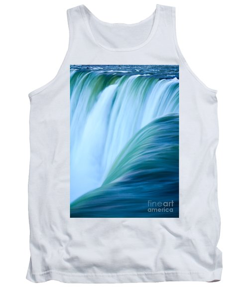 Tank Top featuring the photograph Turquoise Blue Waterfall by Peta Thames