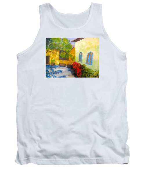 Tank Top featuring the painting Tuscany Courtyard 2 by Pamela  Meredith