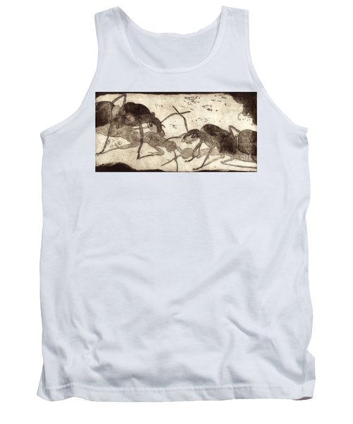 Two Ants In Communication - Etching Tank Top