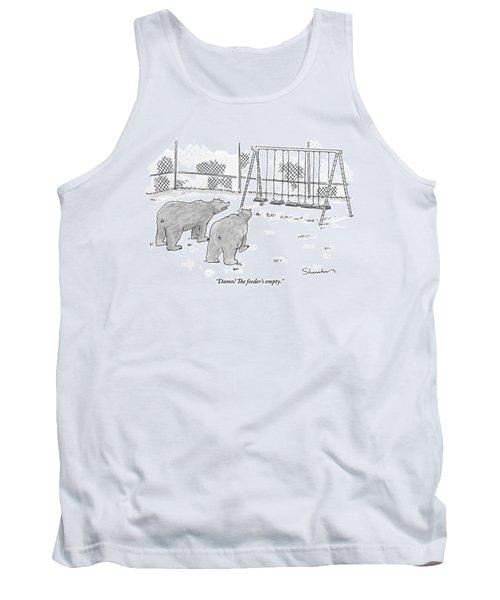 Two Bears Walk Up To An Empty Swing Set Tank Top