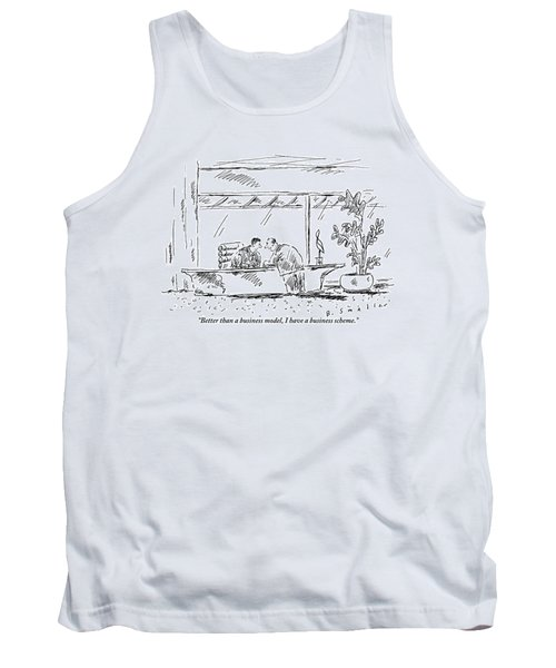 Two Businessmen At A Meeting Discussing Business Tank Top