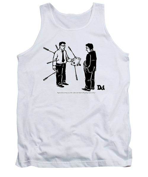 Two Businessmen Stand Together Tank Top