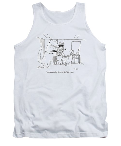 Two Cats Threaten An Old Lady Tank Top