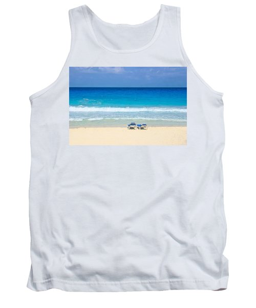 Two Chairs On Cancun Beach Tank Top