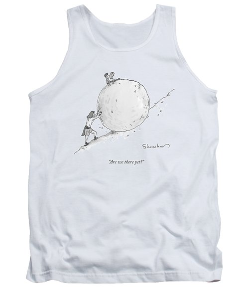 Two Children Sit At The Top Of Sisyphus's Boulder Tank Top