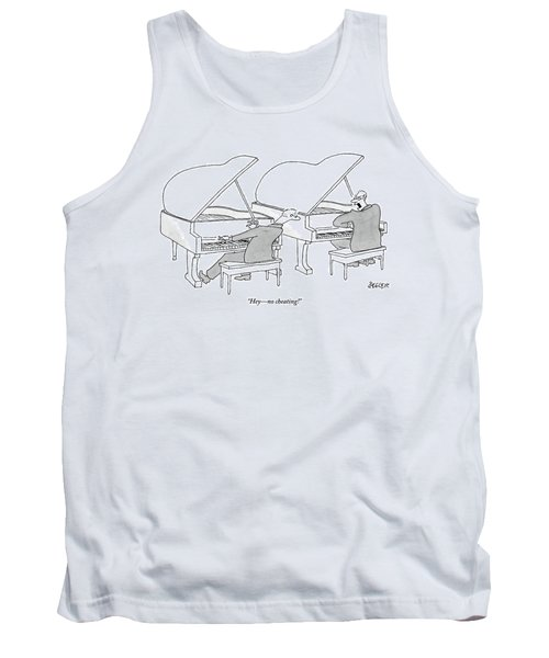 Two Concert Pianists Play Side-by-side Tank Top