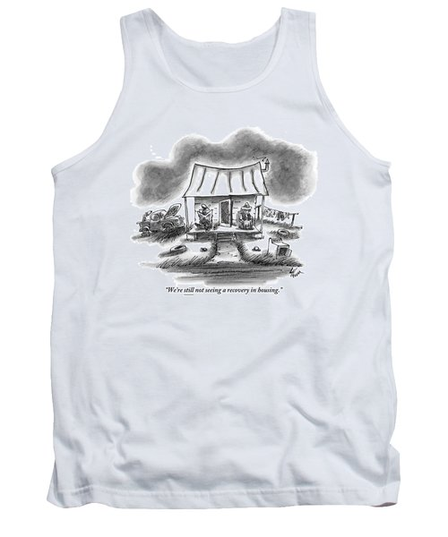 Two Country Folk Are Seen Sitting On Their Porch Tank Top