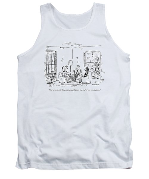 Two Couples Sitting In The Middle Of A House Tank Top