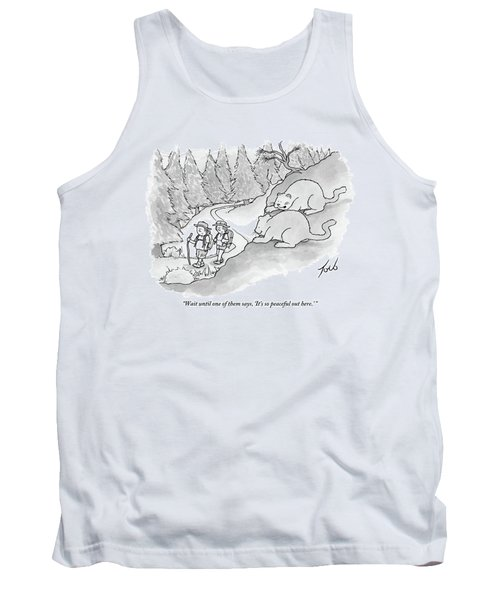 Two Fat Mountain Lions Plan The Perfect Attack Tank Top